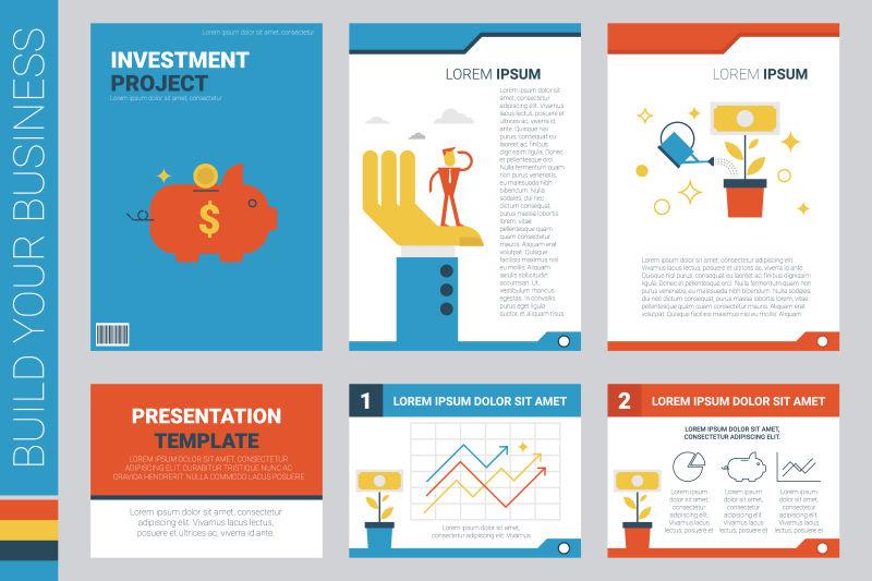 创意投资概念的矢量封面设计