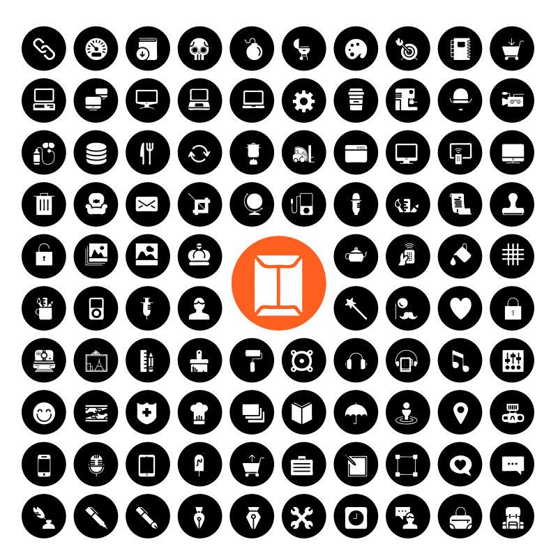 抽象矢量现代通用图标设计