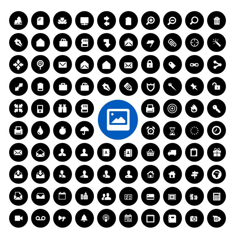 创意矢量现代应用相关图标设计