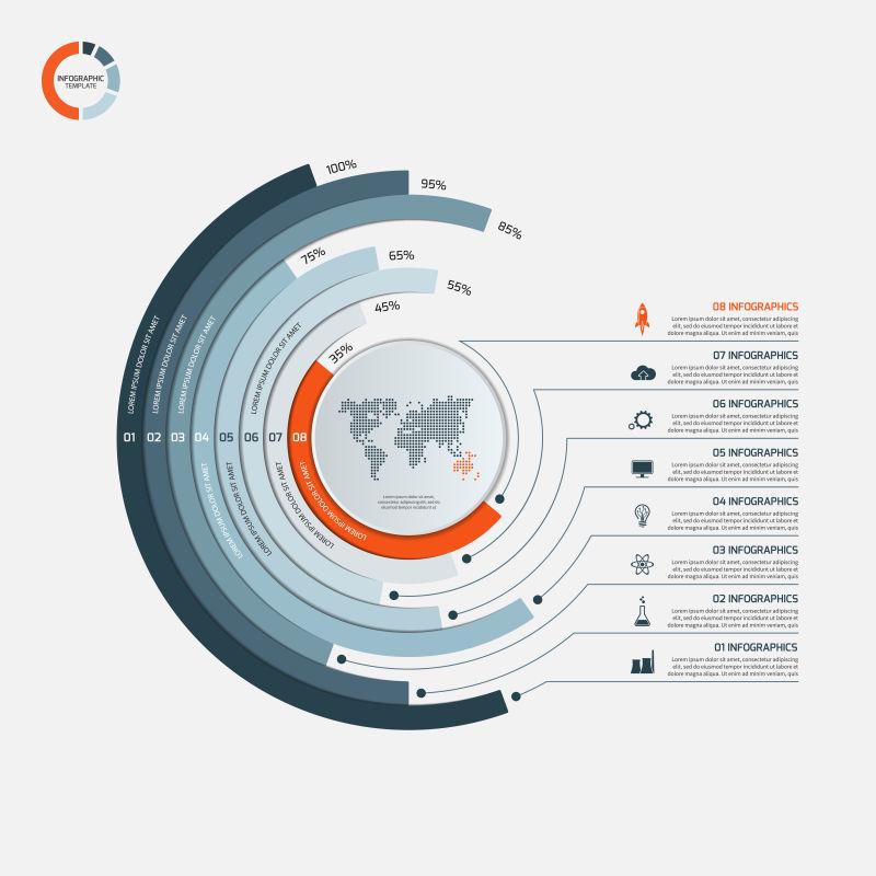 商业循环图表矢量设计
