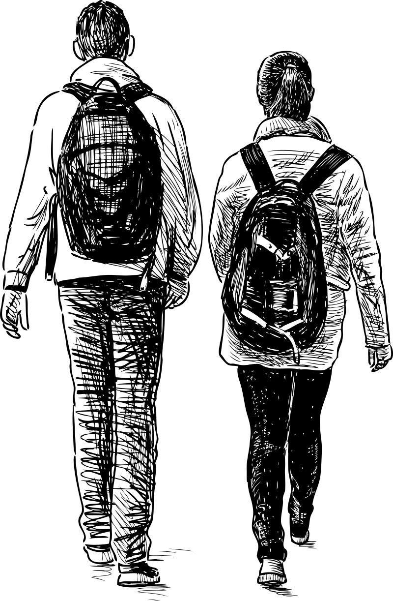 上学的学生