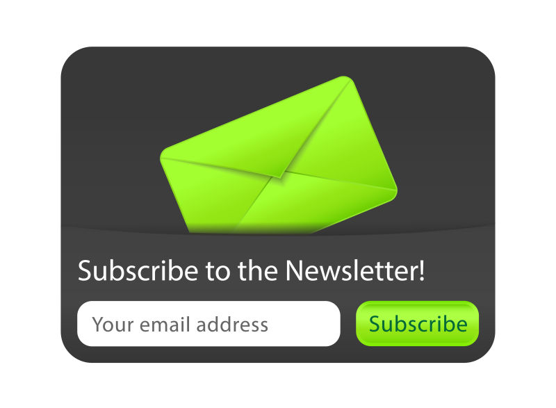 矢量的绿色信封插图