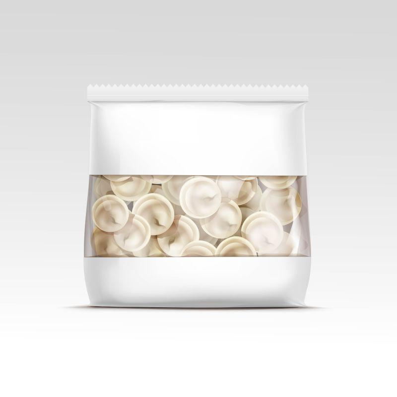 抽象矢量饺子包装设计