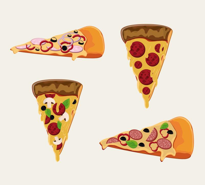 比萨饼矢量插图