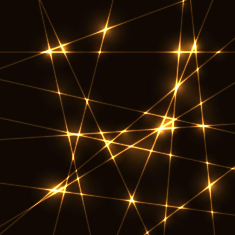 金色发光线条背景矢量设计