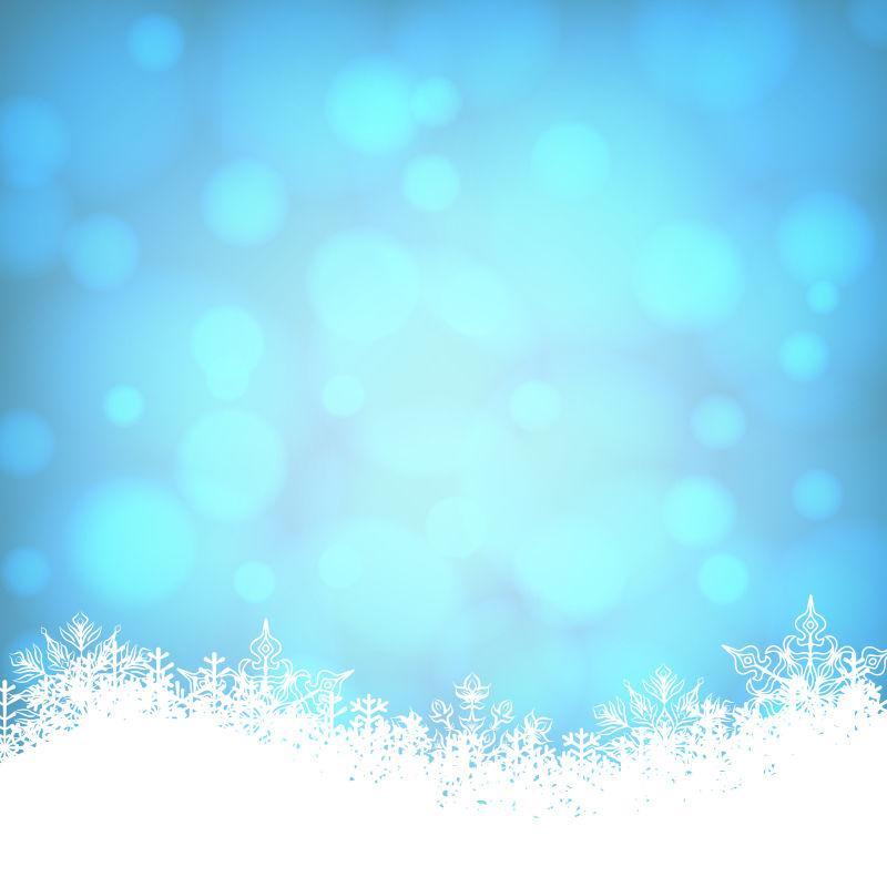 矢量圣诞蓝色闪闪的卡片