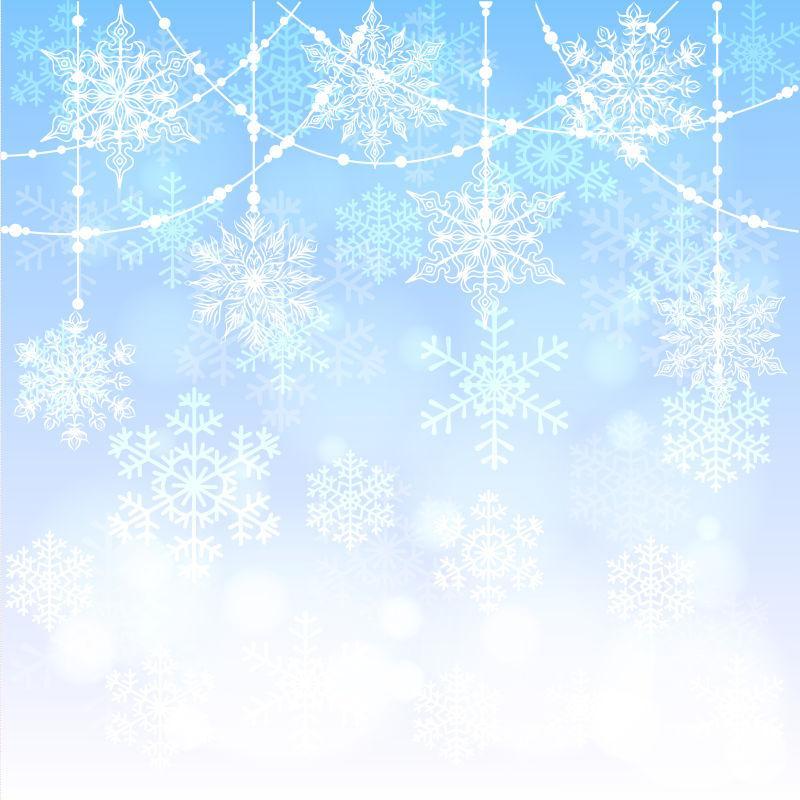 矢量圣诞蓝色闪闪卡片