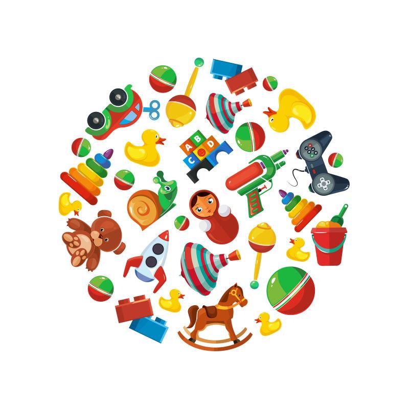 矢量的儿童玩具插图