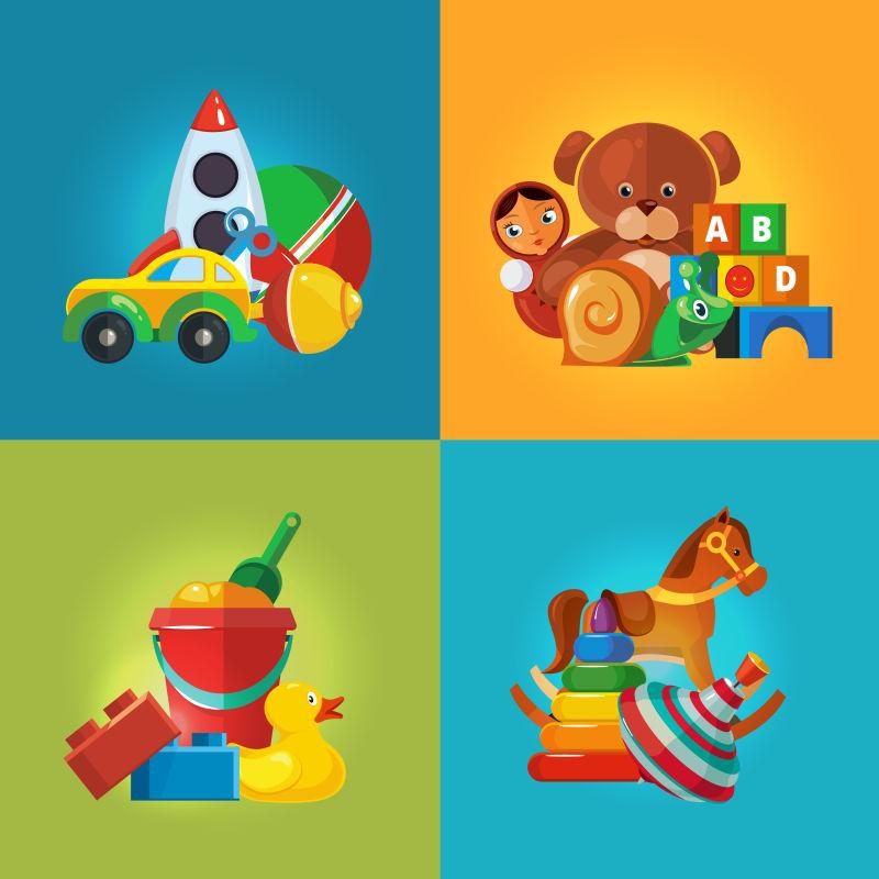 矢量儿童玩具插图