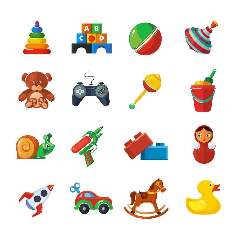 矢量的创意玩具图标