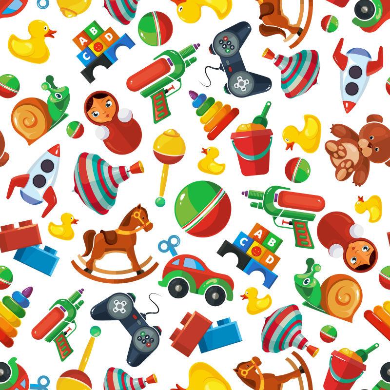 儿童玩具背景矢量设计