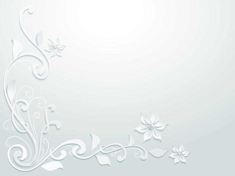 漂亮的花卉图案剪纸矢量设计