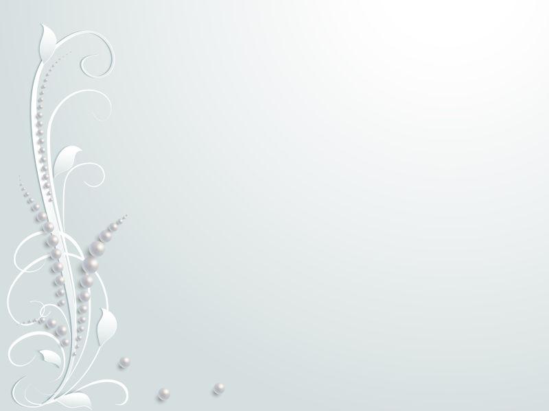 花卉图案婚礼剪纸矢量设计