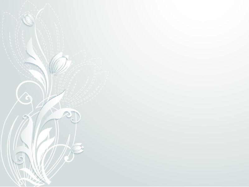 立体的花卉剪纸矢量设计