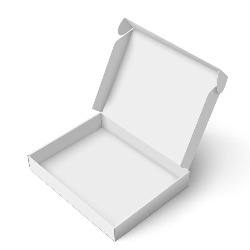 白色方形包装盒矢量设计