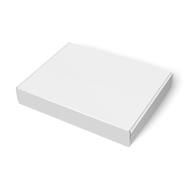 白色包装礼盒矢量设计