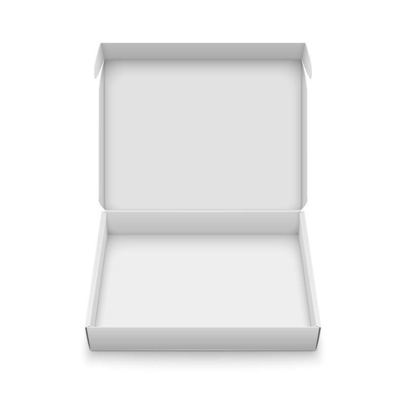 矢量白色纸箱