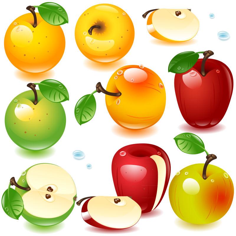 矢量苹果插图设计