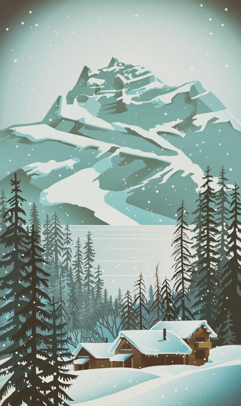 下雪中的天气