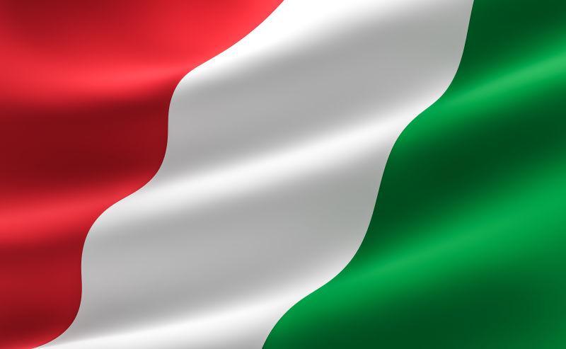 飘扬的意大利国旗