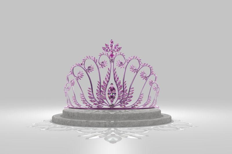粉红的漩涡皇冠