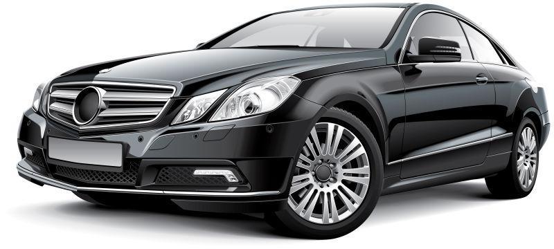 德国紧凑型黑色汽车