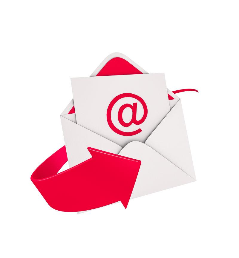 红色电子邮件概念