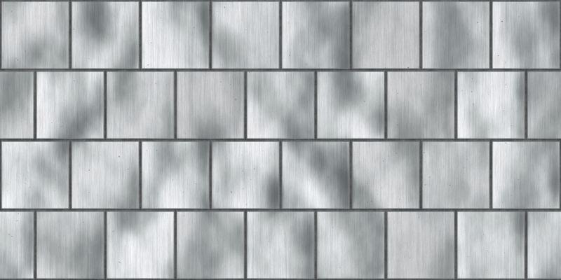银质无缝金属瓦片纹理