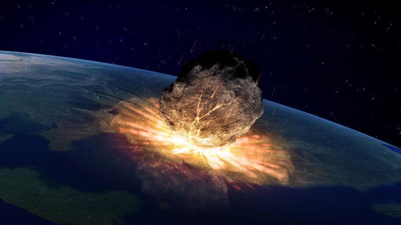 大型小行星撞击地球