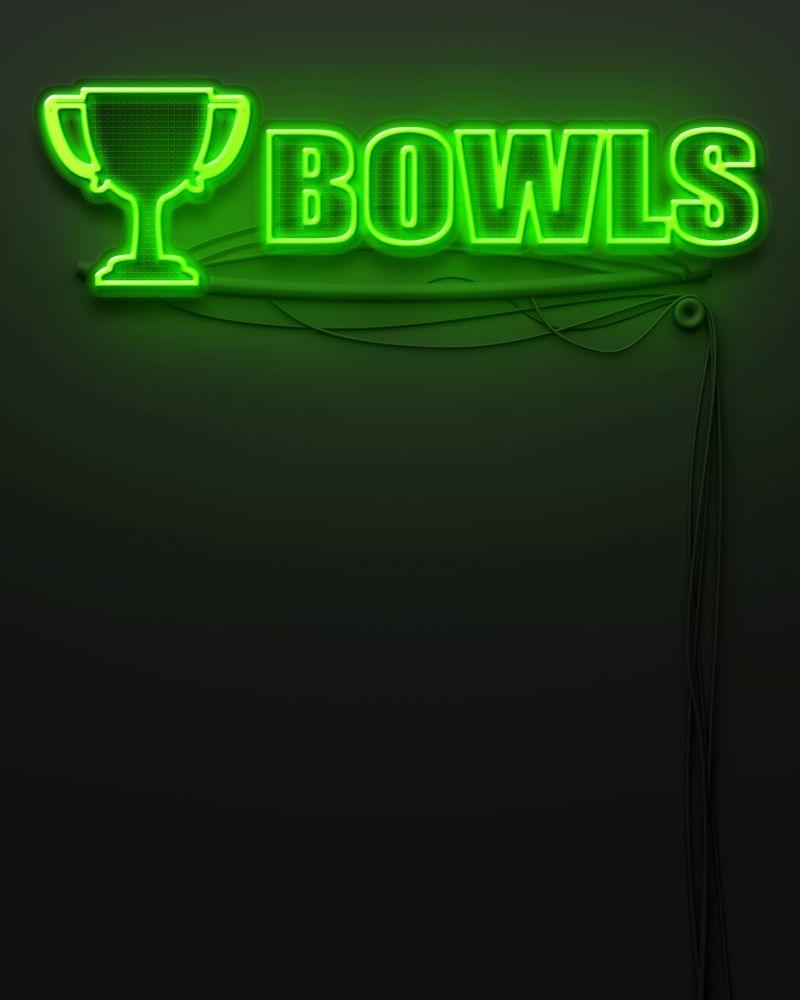 黑色背景上绿色字母的霓虹灯