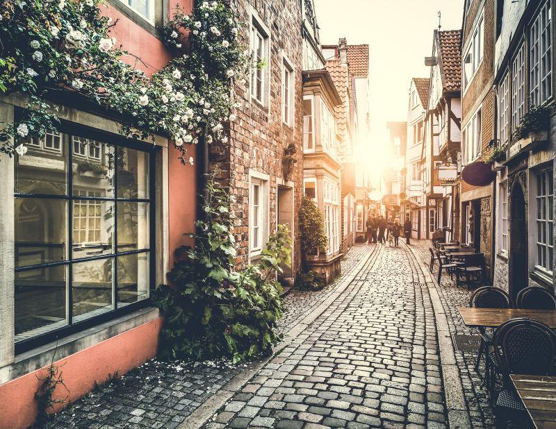怀旧复古风格的街道