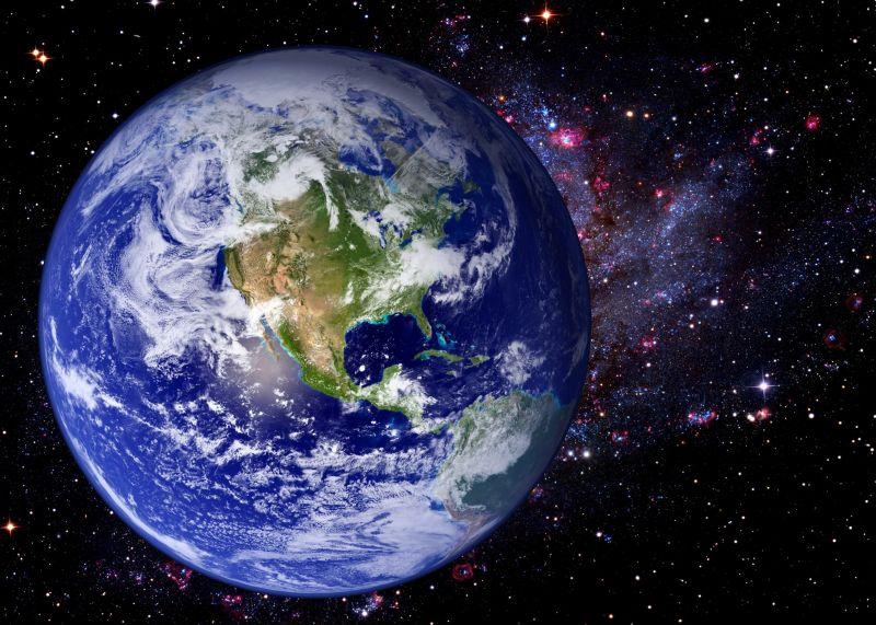 太空宇宙中的地球