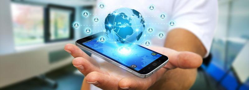 商人利用手机上的社交网络应用