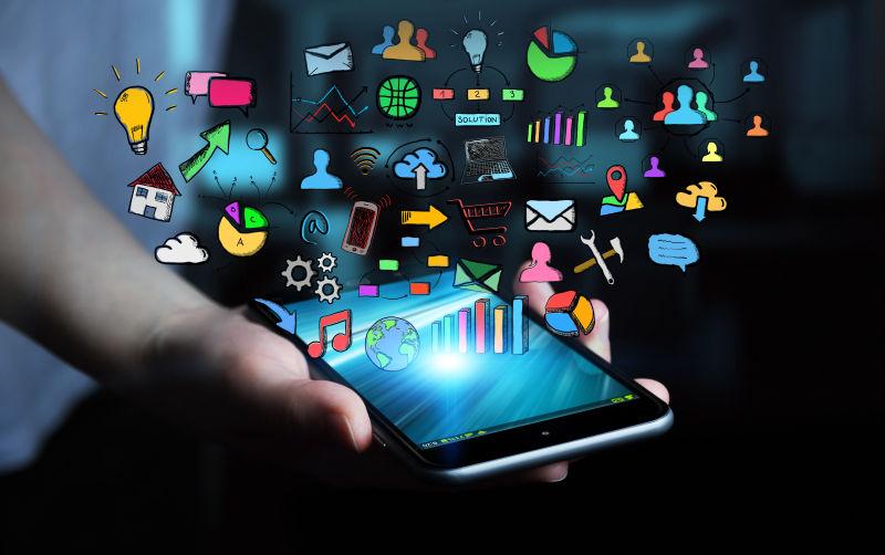智能手机上的各种应用软件