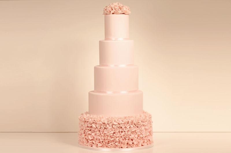 5动物粉红色杏仁蛋糕