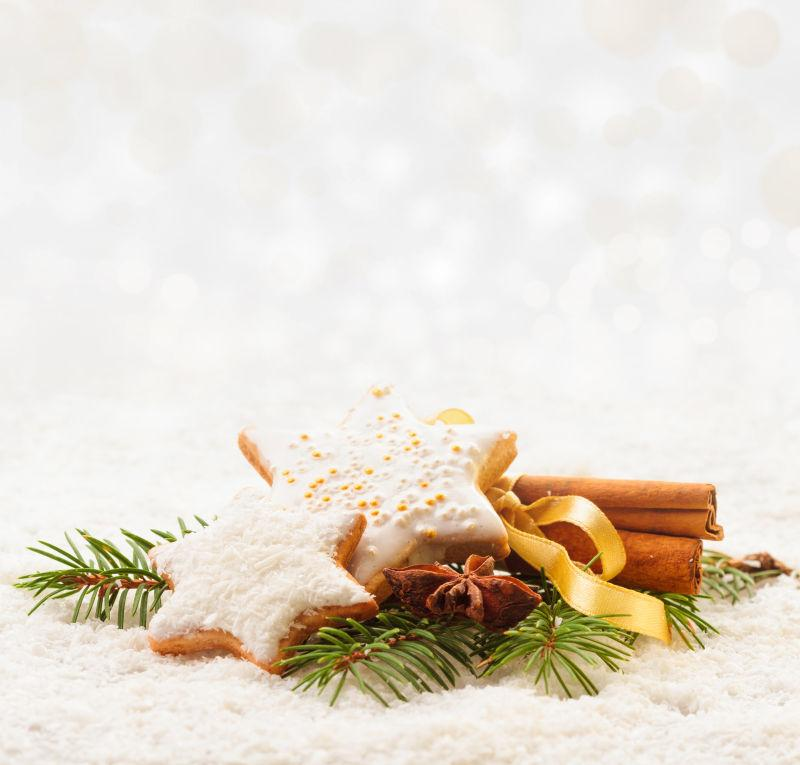 冬季桂皮和圣诞饼干