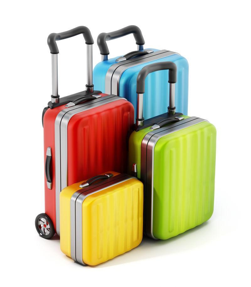 彩色手提箱