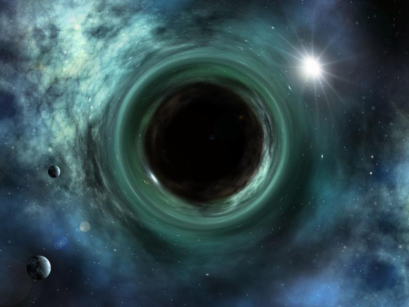 一个良好的空间奇异黑洞的图像