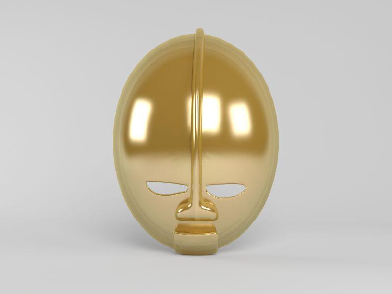 有趣的金色面具