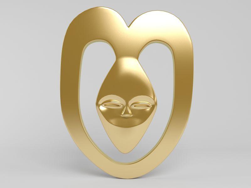 创意金色面具