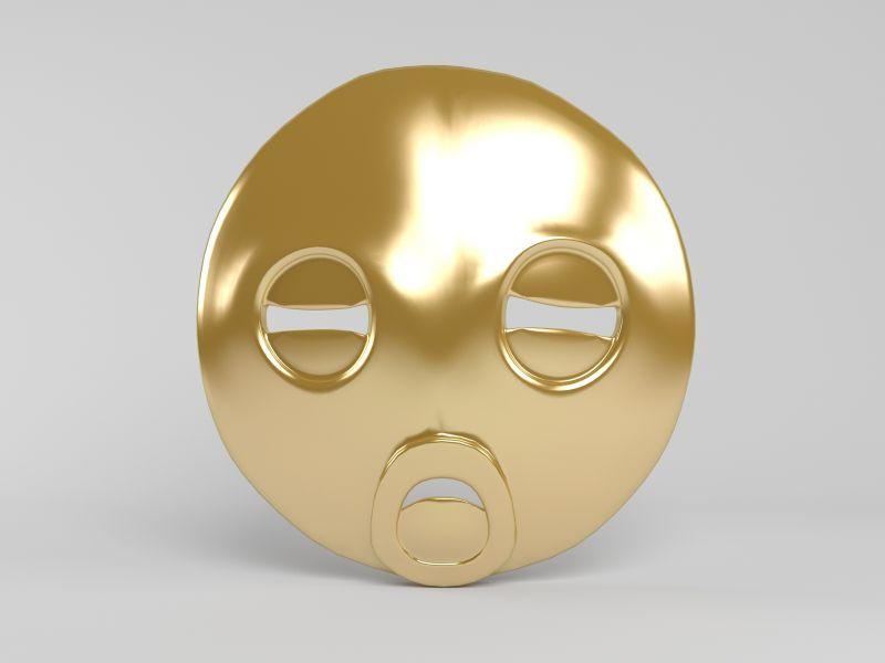 圆形圆润边的面具