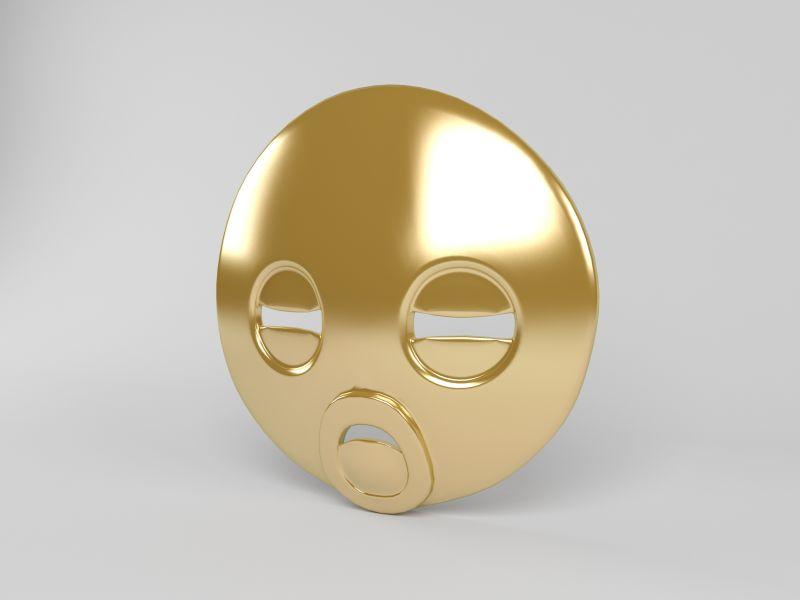 金色人形面具