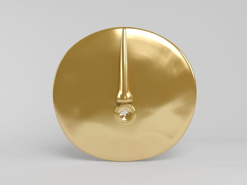 金色的圆盘面具