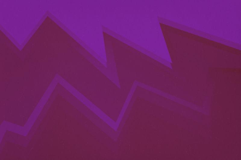 紫色和红色的锯齿形图案