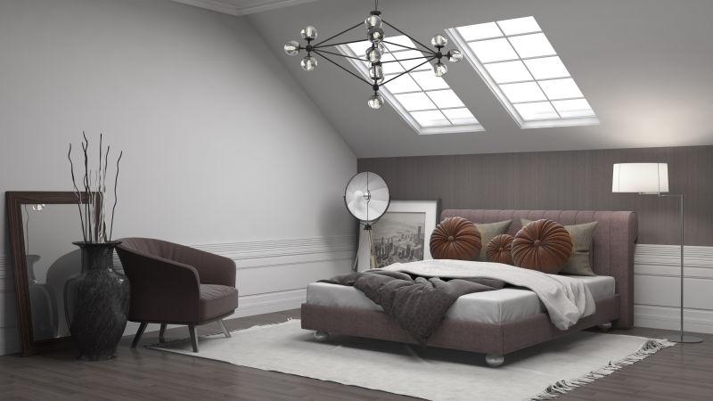 现代风格的简约卧室