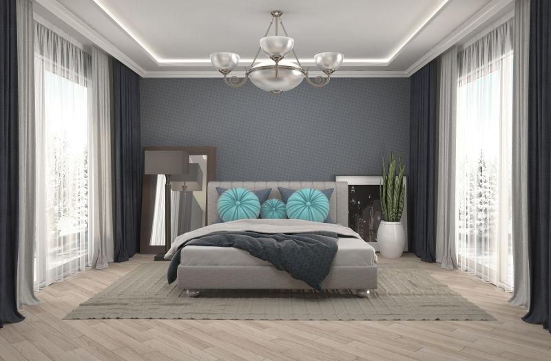现代风格的简约卧房设计