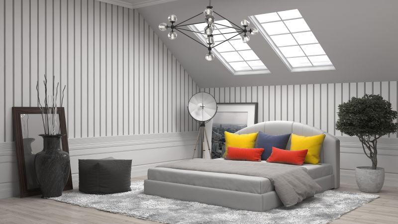 现代风格的卧室设计