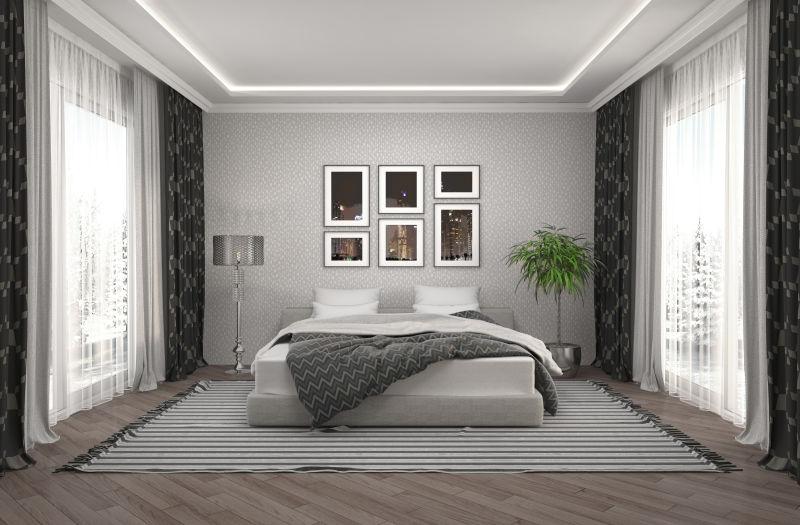 现代风格的卧房