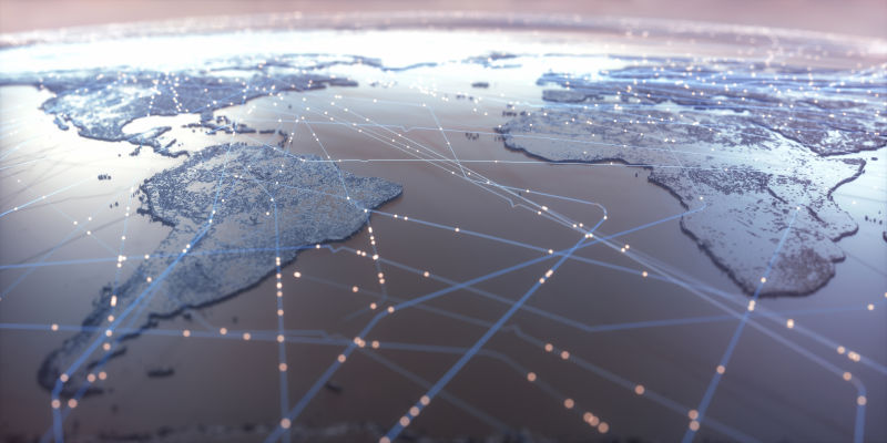 全球网络的空间背景
