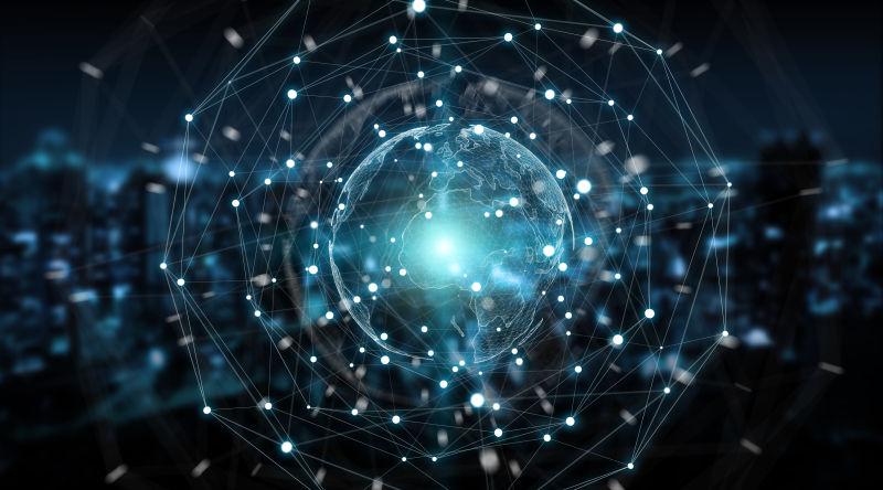 全球虚拟网络概念